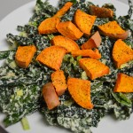 FFF kale sweet potato salad