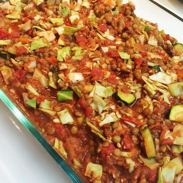 Instagram Cabbage Lentil Casserole