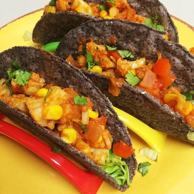 Instagram Cauliflower Corn Tacos