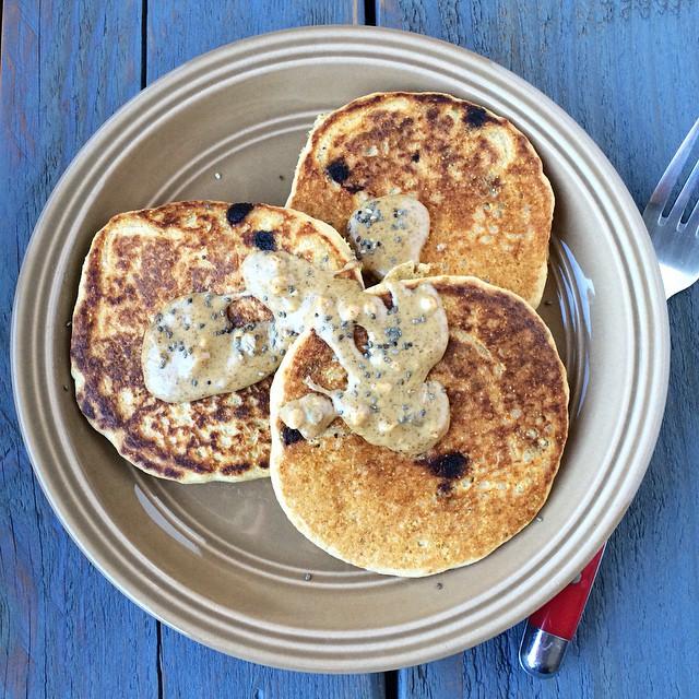 Instagram Chocolate Cornbread Pancakes