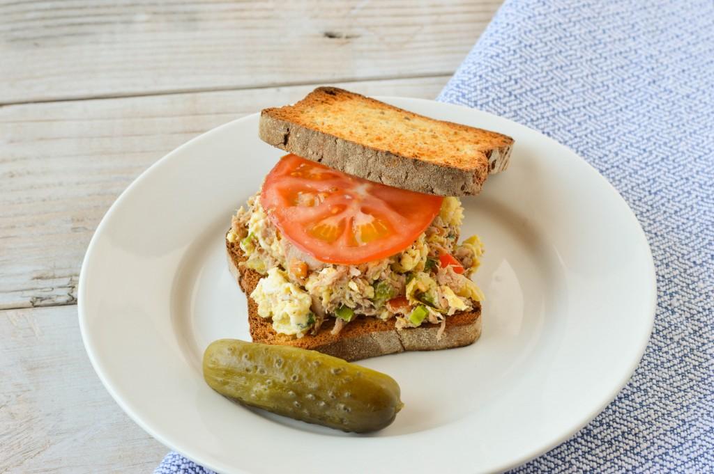 Tuna Egg Scramble Sandwich