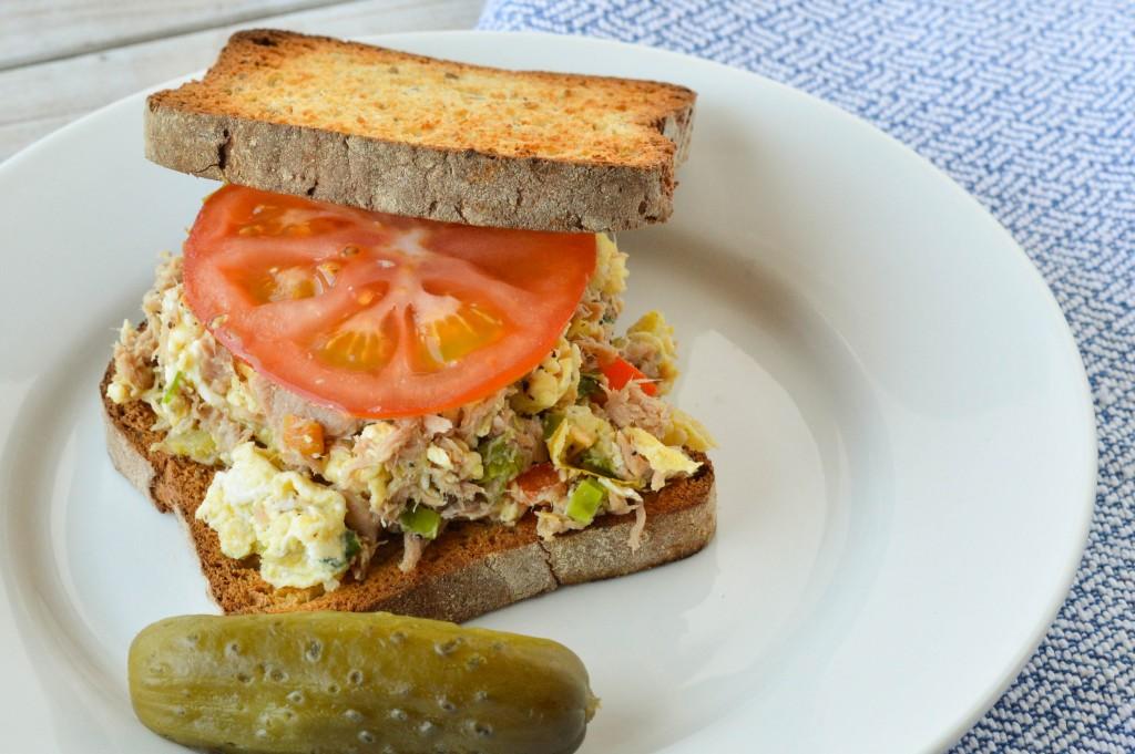 Tuna Egg Scramble Sandwich 2