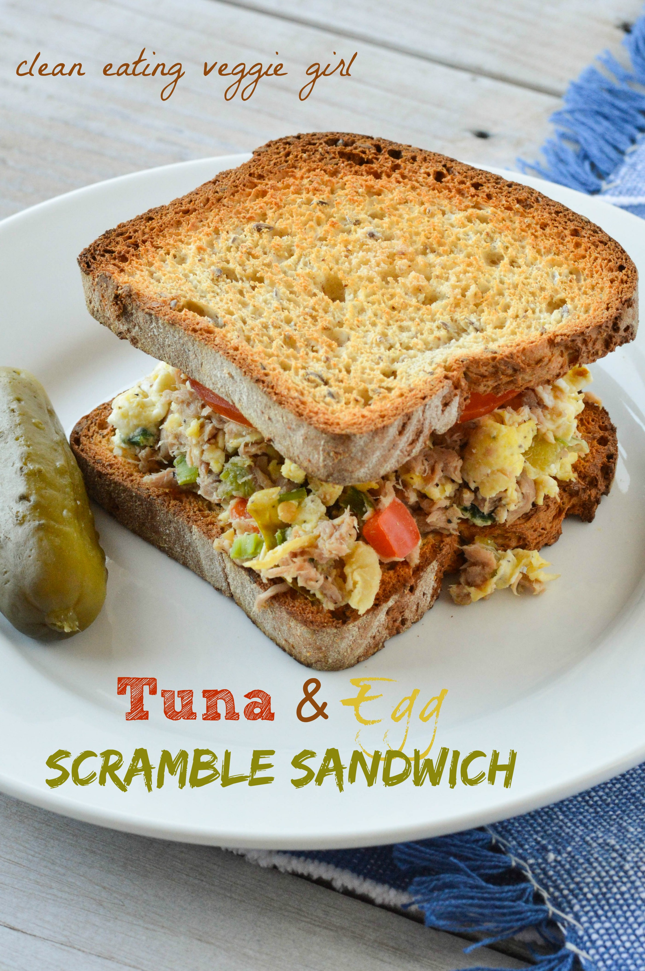 Tuna and egg scramble sandwich for Tuna fish salad recipe with egg