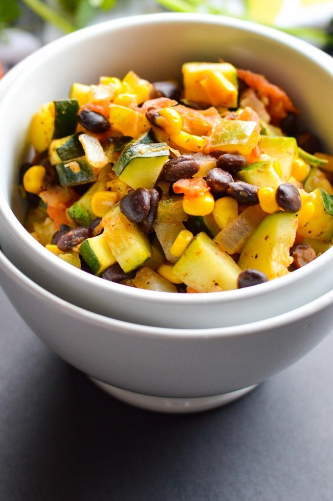 Vegetable Black Bean Mexican Skillet 7