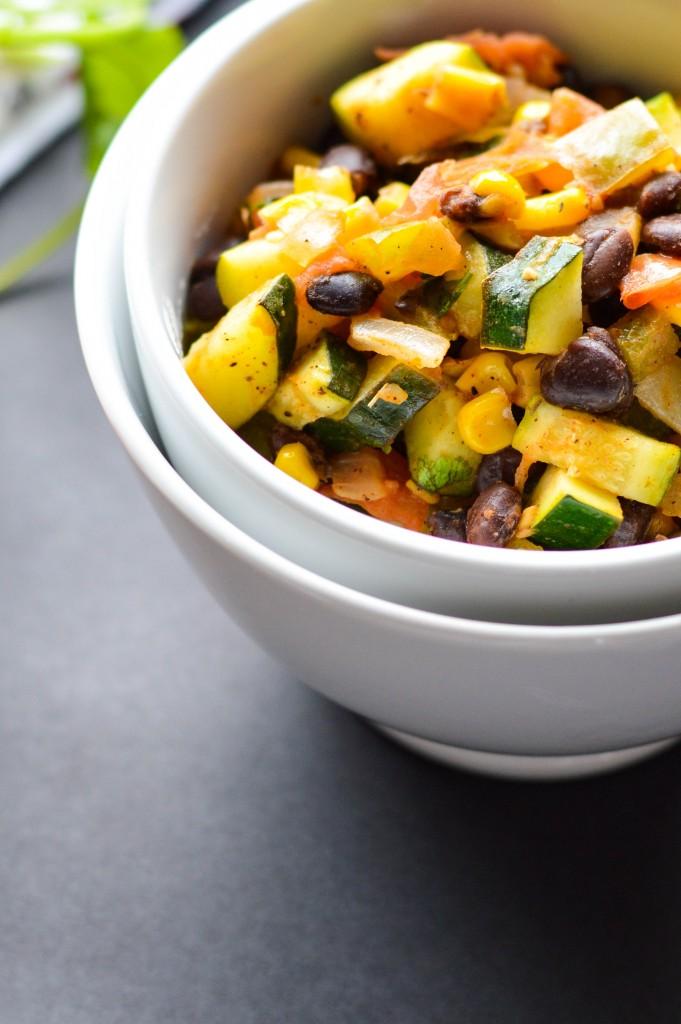 Vegetable Black Bean Mexican Skillet 8
