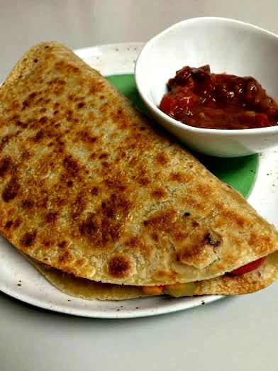WIAW veggie quesadilla
