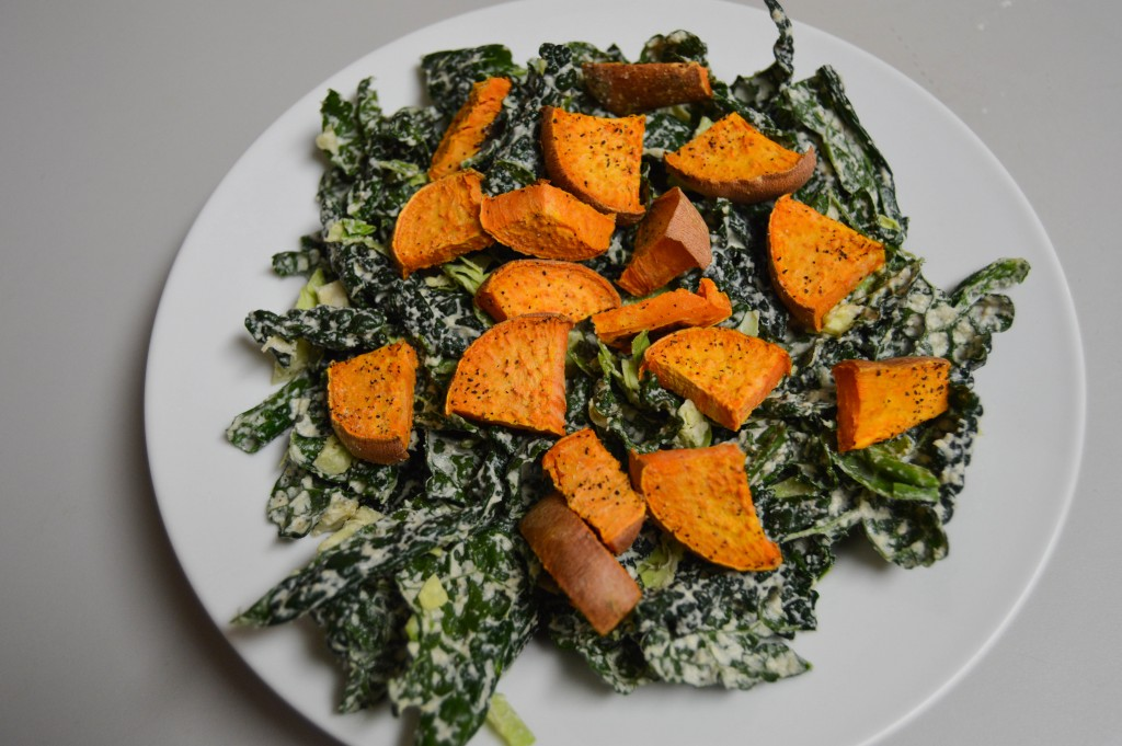 kale sweet potato salad