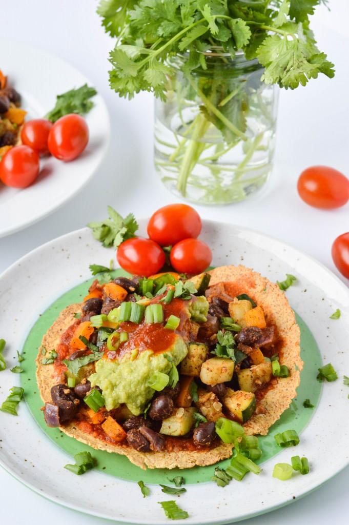 Deconstructed Bean and Veggie Enchilada 2