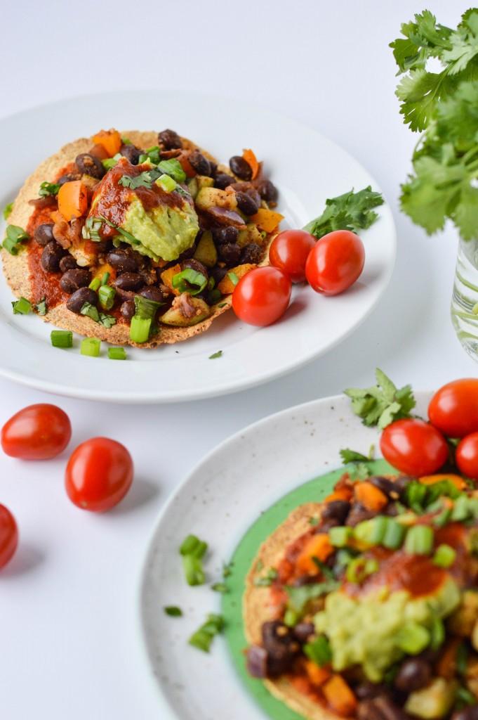 Deconstructed Bean and Veggie Enchilada 6