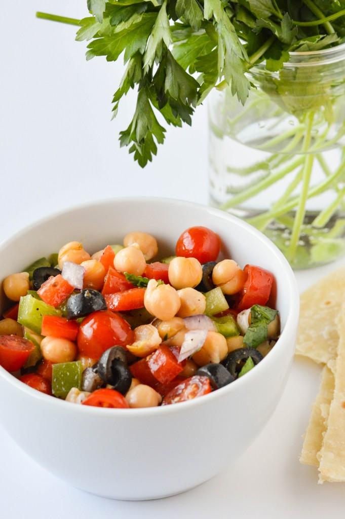 Greek Chickpea Salad 4