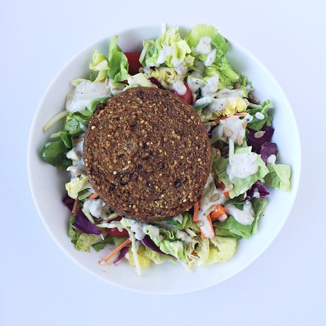 Instagram Veggie Burger Salad