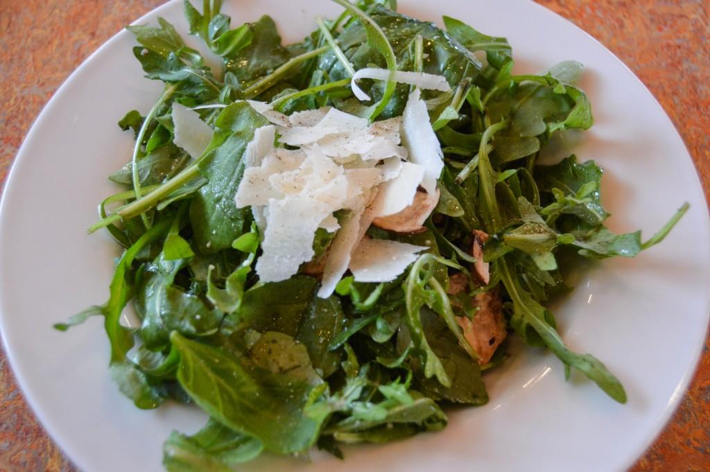 Spin Pizza Arugula Salad