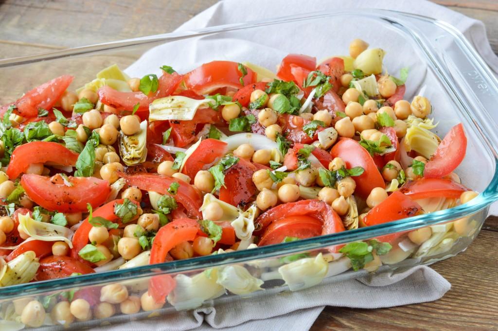 Tomato Artichoke Chickpea Salad