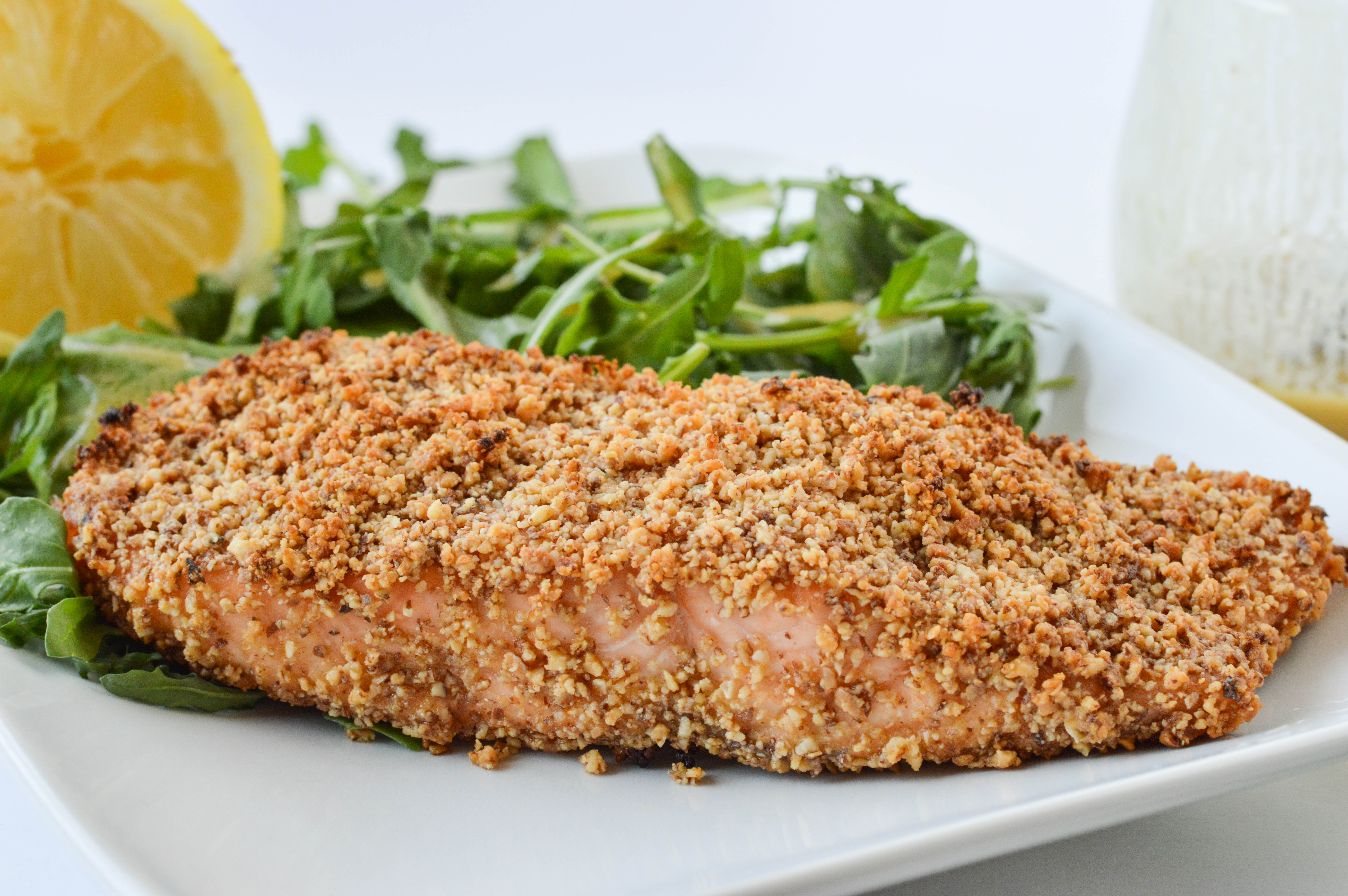 Honey Dijon Almond Crusted Salmon