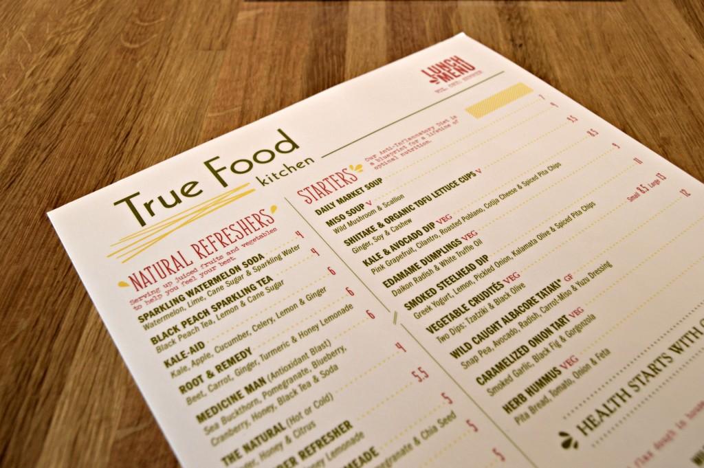 True Food Kitchen Denver Menu