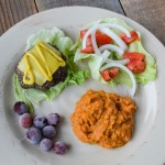 burger_mashed_sweet_potatoes