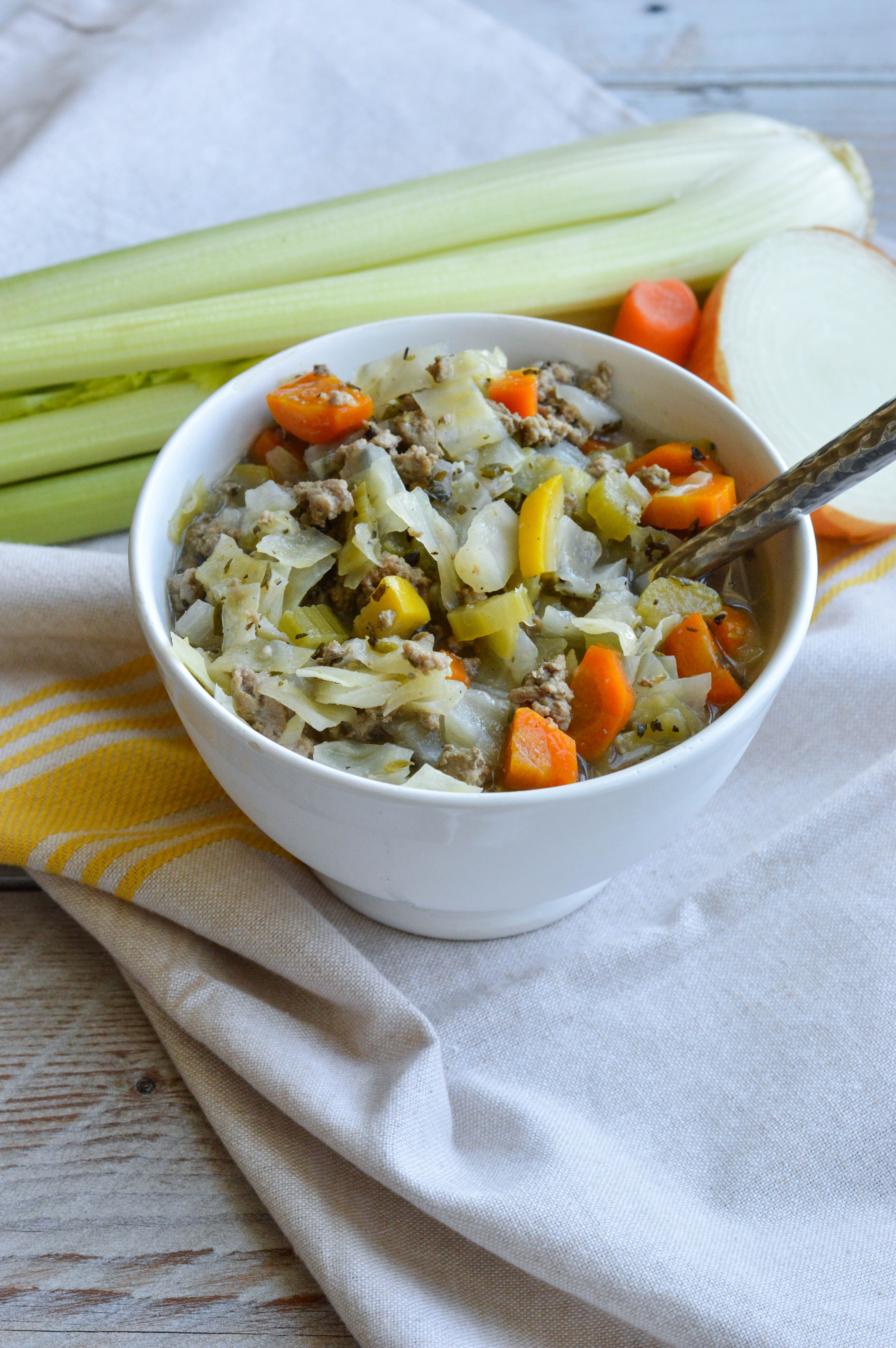Turkey And Vegetable Cabbage Soup