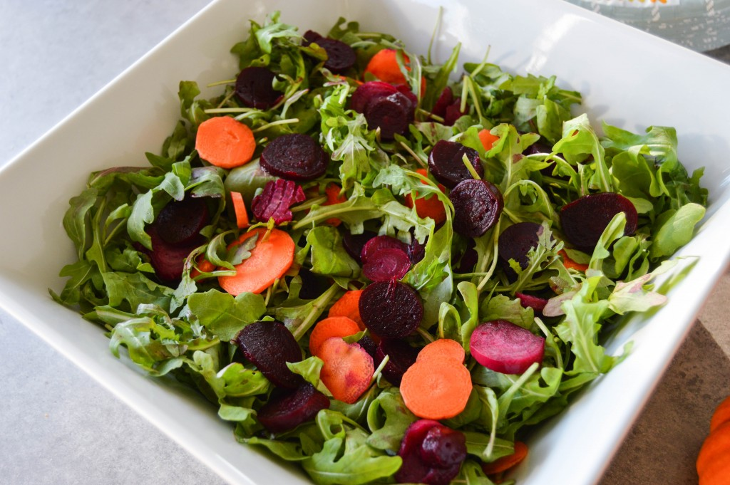 Friendsgiving beet carrot salad
