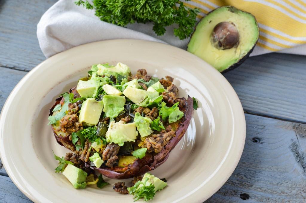 AIP Paleo Taco Stuffed Baked Sweet Potatoes {Gluten-Free, Grain-Free, Nightshade-Free, Dairy-Free}| cleaneatingveggiegirl.com