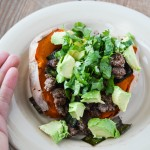 beef stuffed sweet potato