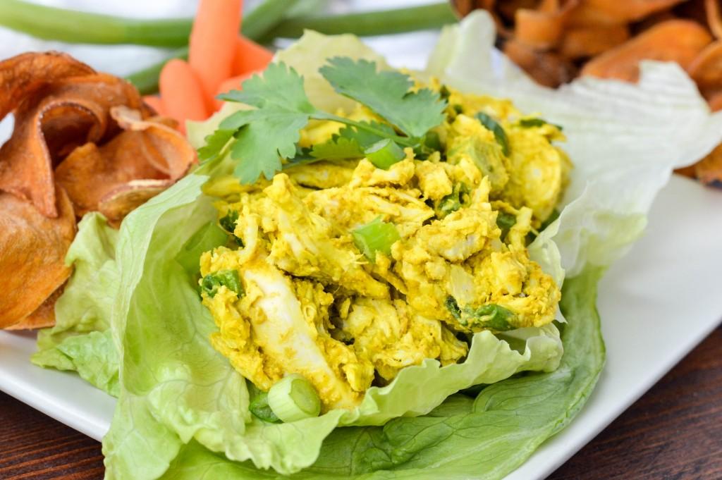 AIP Paleo Avocado Turmeric Chicken Salad  cleaneatingveggiegirl.com