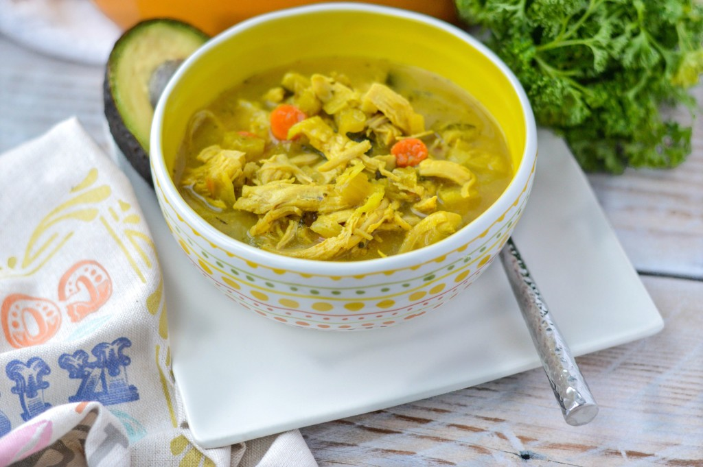 Turmeric Chicken No Noodle Soup {AIP, Paleo, Gluten-Free, Grain-Free, Nightshade-Free, Dairy-Free, Soy-Free, Nut-Free, Egg-Free, Whole 30}| cleaneatingveggiegirl.com