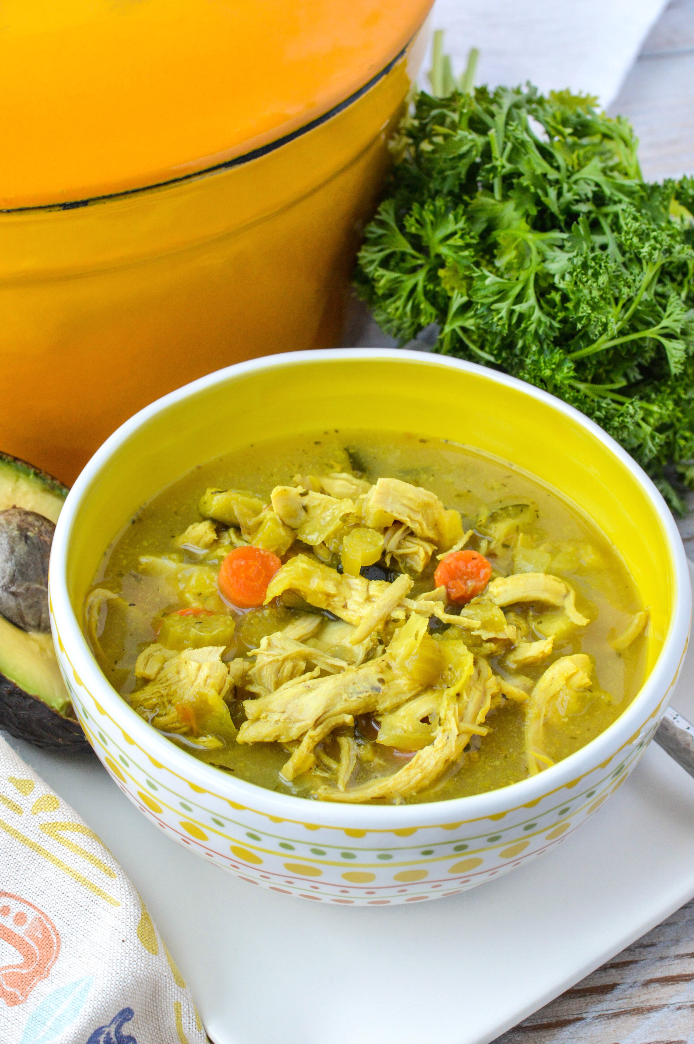 Turmeric Chicken No Noodle Soup Clean Eating Veggie Girl