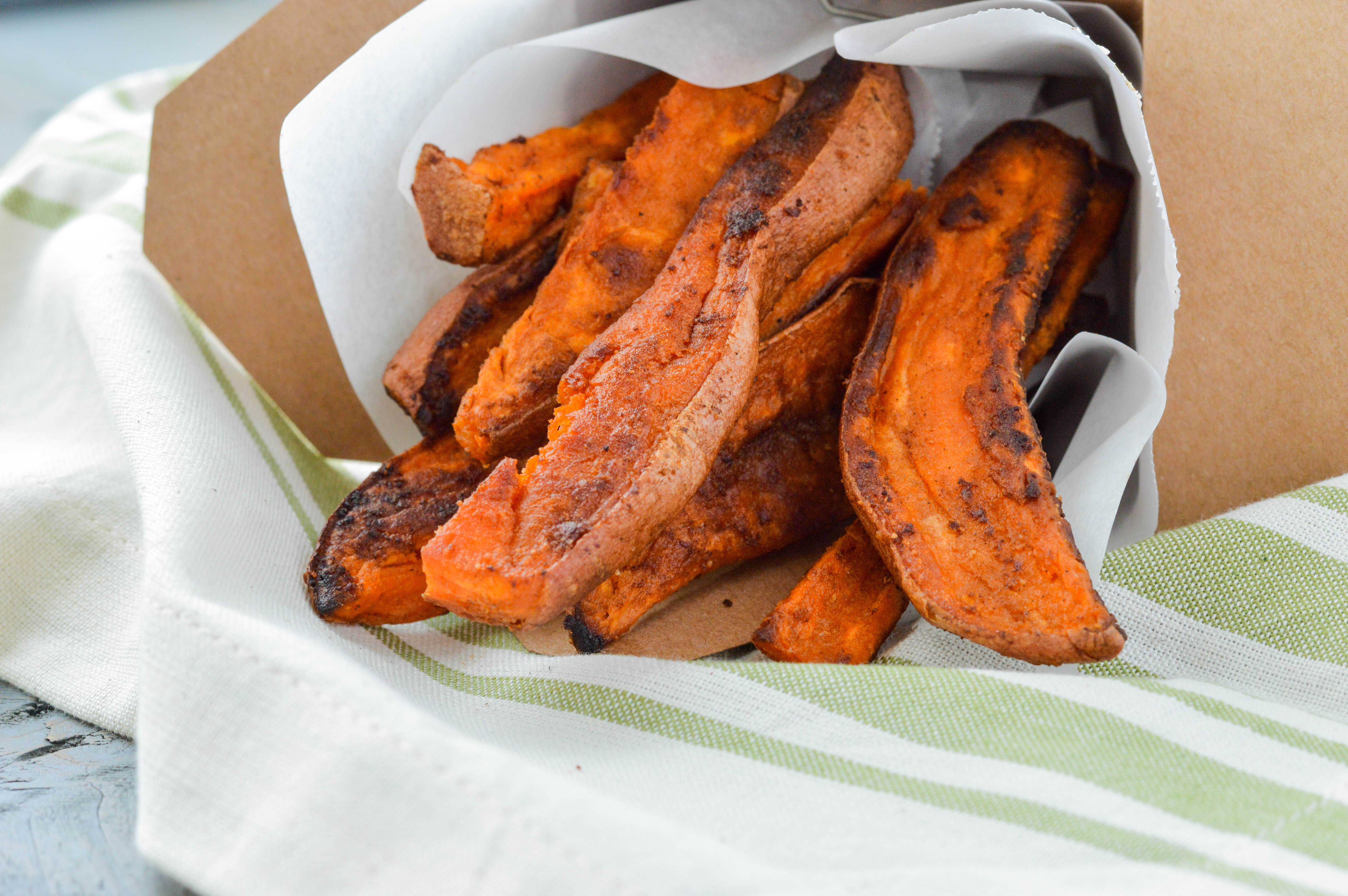 How to make healthy baked fried sweet potatoes
