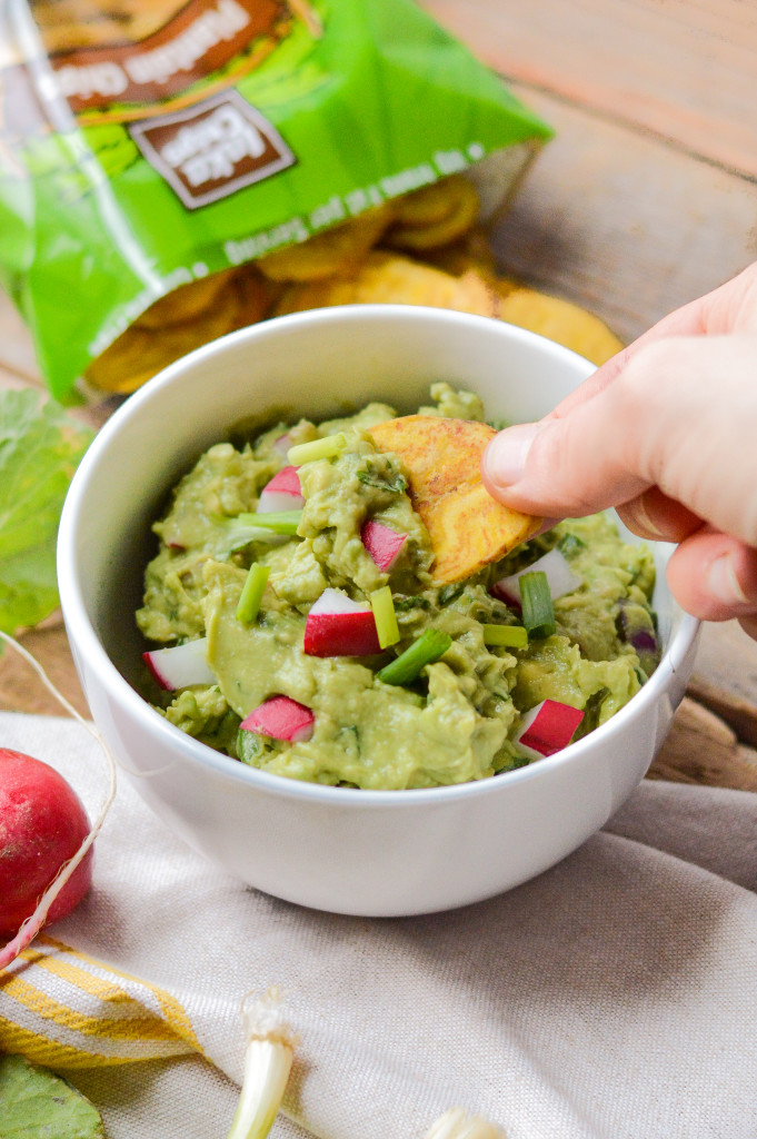 Paleo Nightshade-Free Springtime Guacamole made with green onions and radishes! {AIP Paleo, Gluten-Free, Grain-Free, Dairy-Free, Vegan, Whole 30} | cleaneatingveggiegirl.com