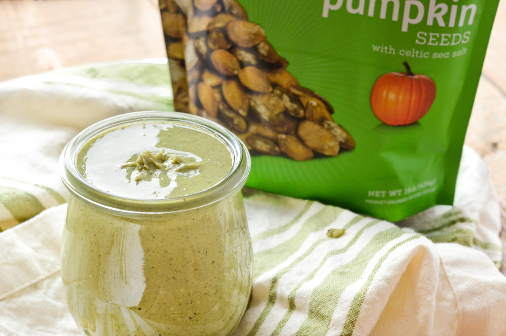 How to Make Homemade Pumpkin Seed Butter in the Vitamix {Paleo, Gluten-Free, Vegan, Nut-Free}| cleaneatingveggiegirl.com