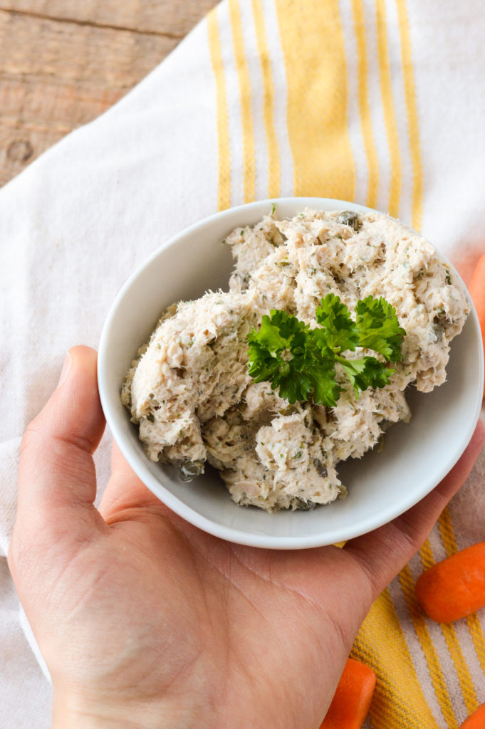 Healthier Ranch Seafood Salad {Paleo, Gluten-Free, Grain-Free, Dairy-Free, Nightshade-Free} | cleaneatingveggiegirl.com