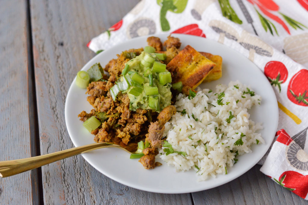 Taco Topped Fried Plantains with Cilantro Lime Rice {Gluten-Free, Dairy-Free, Nightshade-Free} | cleaneatingveggiegirl.com