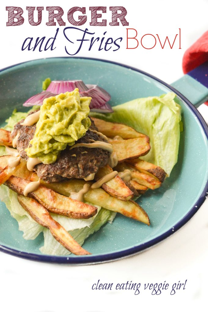 Burger and Fries Bowl {Paleo, Gluten-Free, Grain-Free, Dairy-Free, Soy-Free, Egg-Free, Nut-Free} | cleaneatingveggiegirl.com