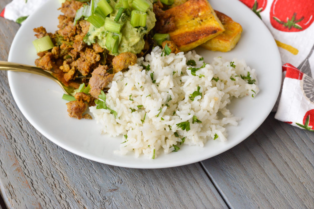 Copycat Chipotle Cilantro Lime White Rice - Clean Eating Veggie Girl