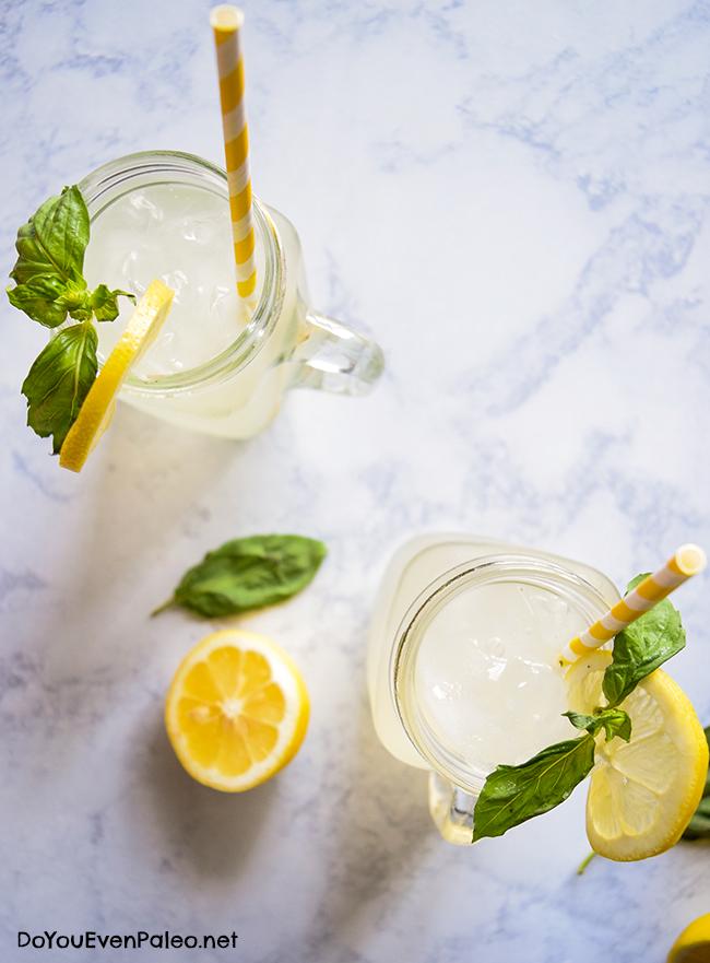 Honey-Sweetened Basil Lemonade from Do You Even Paleo