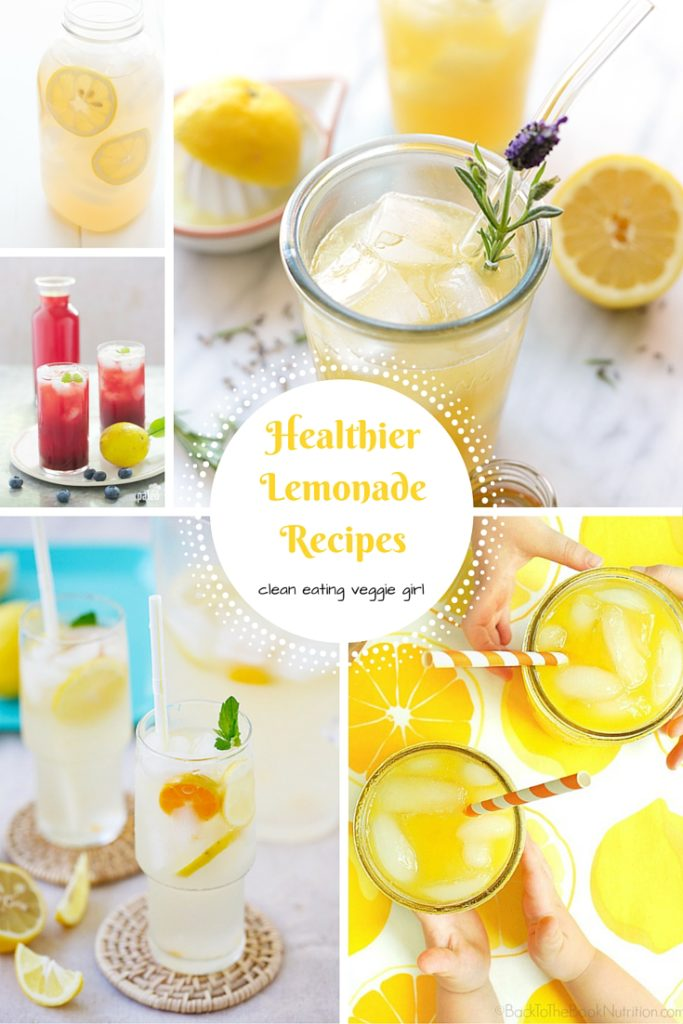 Healthier Lemonade Recipes that are perfect for Summer! | cleaneatingveggiegirl.com