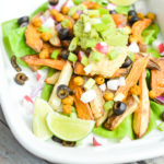 Loaded Taco French Fries with Roasted Chickpeas {Gluten-Free, Grain-Free, Vegan, Vegetarian} | cleaneatingveggiegirl.com
