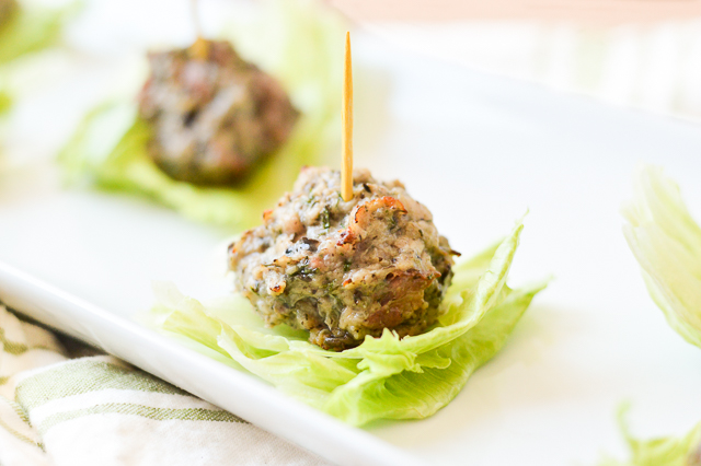 Chicken Bacon Ranch Meatballs {AIP Paleo, Gluten-Free, Grain-Free, Dairy-Free, Egg-Free, Soy-Free, Nut-Free, Whole 30} | cleaneatingveggiegirl.com