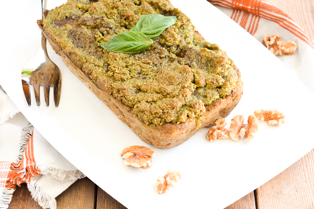Walnut Pesto Chicken Meatloaf with @CAWalnuts {Paleo, Gluten-Free, Grain-Free, Dairy-Free, Egg-Free, Soy-Free, Nightshade-Free, Whole 30} | cleaneatingveggiegirl.com #ad #CG #walnuts