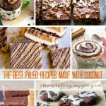 Paleo Dessert Recipes Made with Coconut | cleaneatingveggiegirl.com