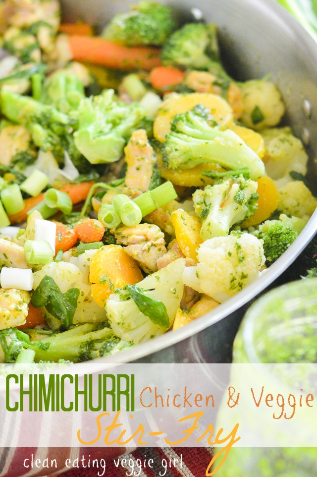 Chimichurri Chicken and Veggie Stir-Fry {AIP Paleo, Gluten-Free, Grain-Free, Nut-Free, Nightshade-Free, Whole 30} | cleaneatingveggiegirl.com