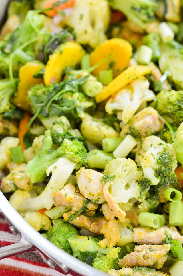 Chimichurri Chicken and Veggie Stir-Fry {AIP Paleo, Gluten-Free, Grain-Free, Nut-Free, Nightshade-Free, Whole 30} | cleaneatingveggiegirl.com