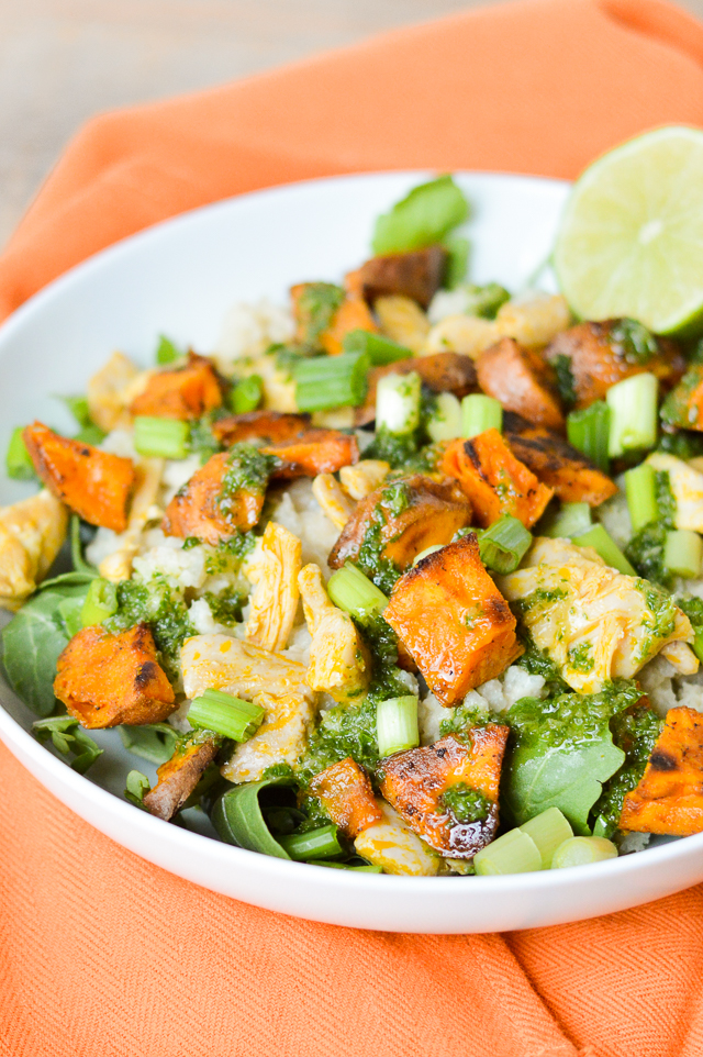 Chimichurri Cauliflower Rice Burrito Bowls {AIP Paleo, Gluten-Free, Grain-Free, Dairy-Free, Nightshade-Free, Nut-Free, Soy-Free, Whole 30} | cleaneatingveggiegirl.com