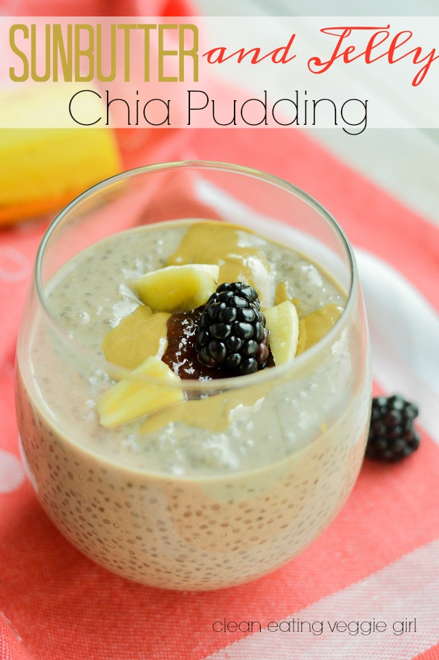 The perfect Breakfast! SunButter and Jelly Chia Pudding {Paleo, Vegan, Vegetarian, Dairy-Free, Gluten-Free, Grain-Free, Soy-Free, Nightshade-Free} | cleaneatingveggiegirl.com