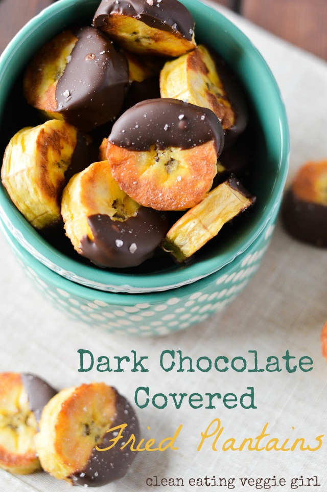 Dark Chocolate Covered Fried Plantains {Paleo, Gluten-Free, Grain-Free, Dairy-Free, Vegan, Vegetarian, Soy-Free, Nightshade-Free} | cleaneatingveggiegirl.com