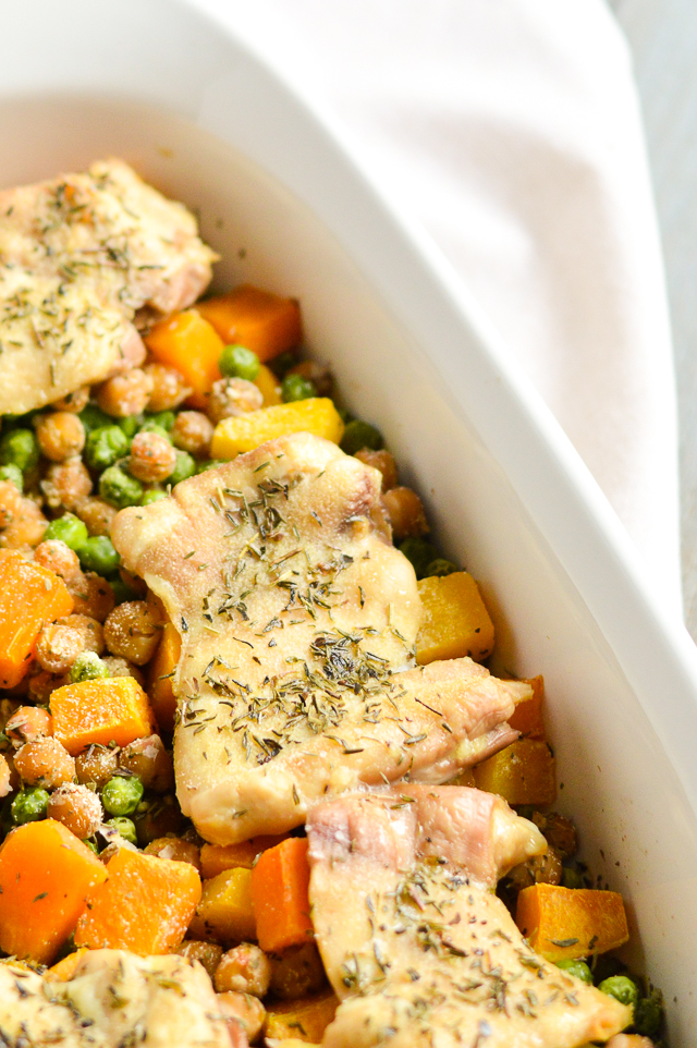 chicken veggie bean bake