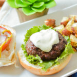 Beef Dill Burgers with Lemon Dill Mayo are the perfect Paleo and gluten-free barbecue food. Put your grill to use this Summer with this all-American burger!