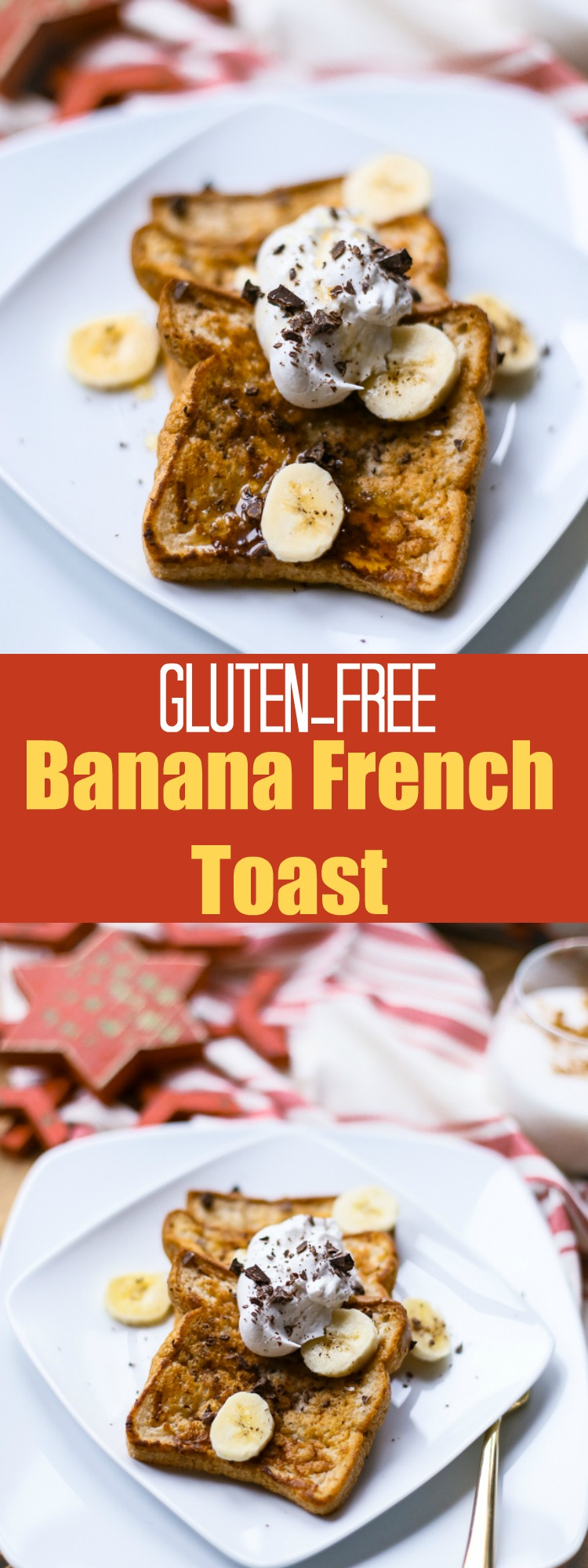 Gluten-Free Banana French Toast for One is a healthy breakfast option that is also vegan-friendly! #glutenfree #frenchtoast #breakfast #vegan