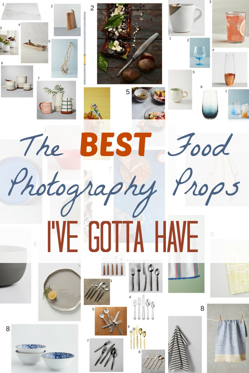 The Best Food Photography and Blogging Props that are absolute must haves! #foodphotography #foodblog #blogging