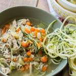 Instant Pot Chicken Noodle Soup with Zucchini Noodles